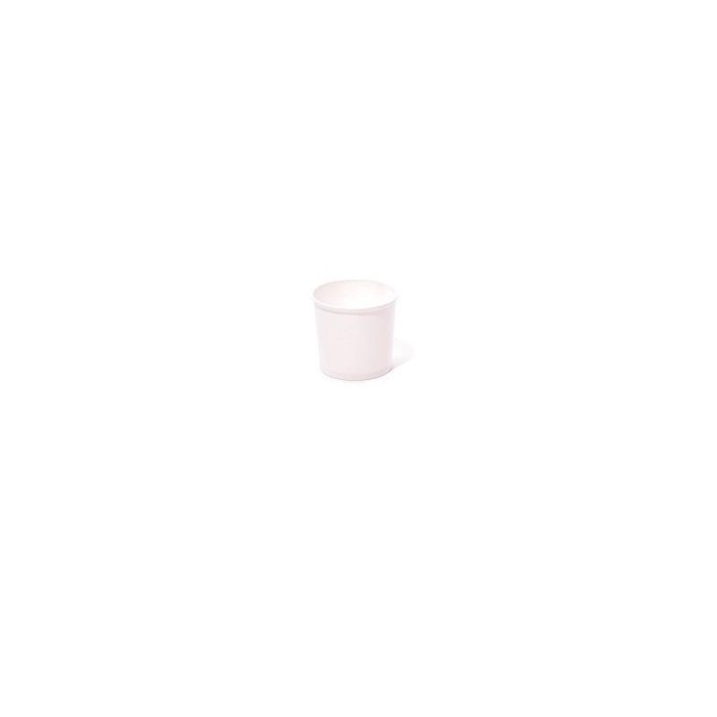 Rundflasche aus HDPE weiß mit Verschluss, 1 Liter